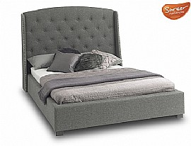 Signature 'Winged' Bed Frame (Grey) - SAR