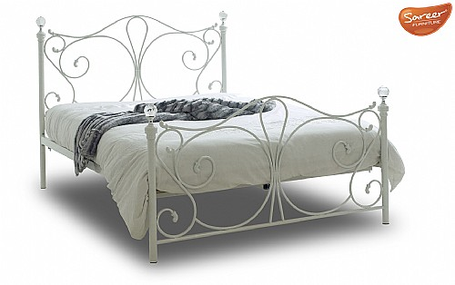Sherry Bed Frame (White) - Sareer