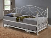 Milano 3ft Day bed/Guest bed (Cream/Brass) - Birlea