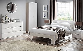 Manhattan Bedroom Furniture (White High Gloss) - Julian Bowen