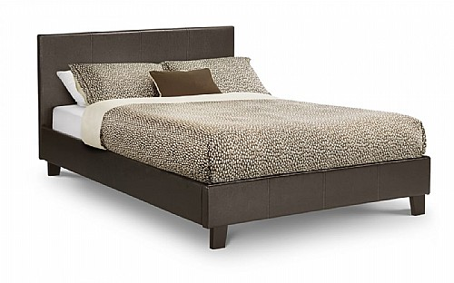 Cosmo Faux Leather Bed Frame - Julian Bowen