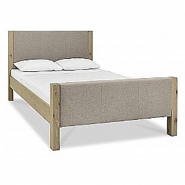 Turin HFE Oak/Upholstered Bed - Premier Collection