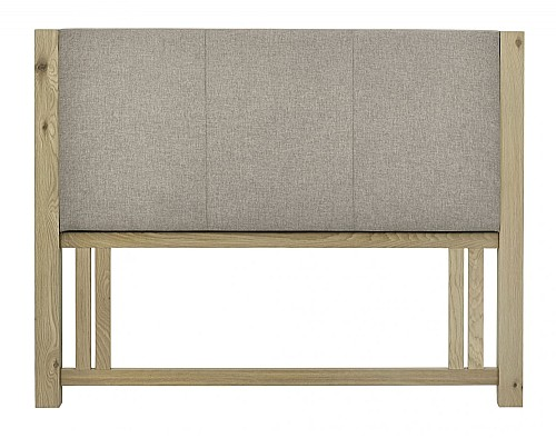 Turin Wooden Upholstered  Headboard (Aged Oak) - Bentley Designs