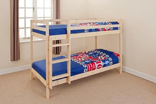 Natural Pine Bunk Bed (3ft) - Siesta Trading