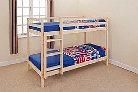 Natural Pine Bunk Bed (3ft) - BCBz