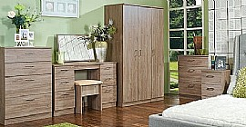 Devon Bedroom Range (Stirling Oak Finish) - Welcome Furniture