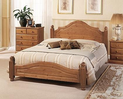 Carolina Low Foot End Pine Bed - AS