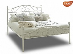 Devon White Metal Bed Frame - SAREER