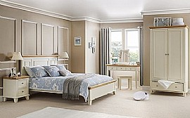 Portland Bedroom Range (Stone White/Solid Oak) - Julian Bowen