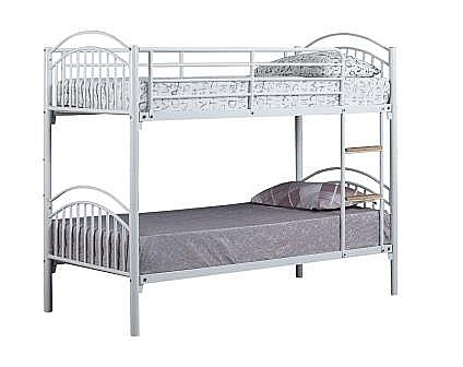 Alton Bunk Bed (Silver /Blue / White) - Ambers International