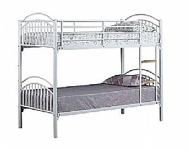 Alton Bunk Bed (Silver / Blue / White) - Ambers International