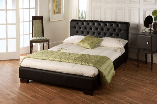 Aries Black Bed (Faux Leather) - Limelight Beds