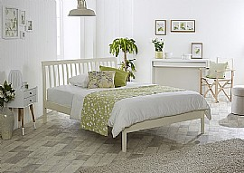 Ananke Bed Frame (Buttermilk) - Limelight Beds