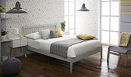 Ananke Bed Frame (Grey) - Limelight Beds