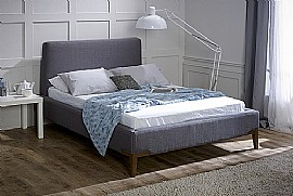 Andromeda Fabric Bed Frame (Slate Grey) - Limelight Beds
