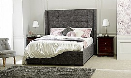 Aquila Fabric Bed Frame (Slate) - Limelight Beds