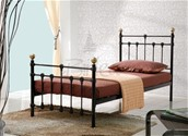 Atlas Single Bed Frame (Black & Brass) - Birlea Furniture