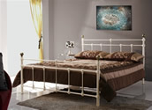 Atlas Bed Frame (Cream/Brass) - Birlea Furniture