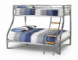 Atlas Metal Triple Bunk Bed (Aluminium Finish) - Julian Bowen