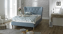 Aurora Bed Frame (Duck Egg Blue Fabric) - Limelight Beds