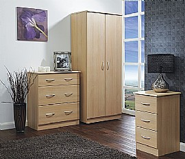 Avon (Light Oak finish) Bedroom  Range - Welcome Furniture
