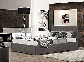 Berlin Fabric Ottoman Bed Frame (Grey) - Birlea Furniture