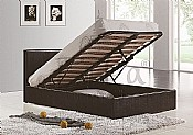 Berlin Ottoman Storage Bed (Black Faux Leather) - Birlea