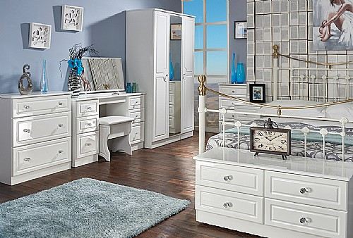 Balmoral (White High Gloss) Bedroom Range - Welcome Furniture