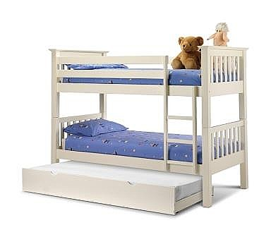 Barcelona Bunk & Optional Accessories (Stone White) - JB