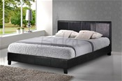 Berlin Black Bed (Faux Leather) - Birlea Furniture
