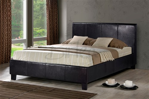 Berlin Brown Bed Frame (Faux Leather)  - Birlea Furniture