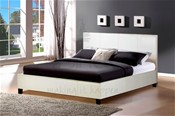 Berlin Bed Frame (White Faux Leather) - Birlea Furniture
