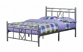 Bristol Metal Bed Frame (Silver) - Ambers International