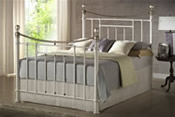 Bronte Bed Frame (Cream/Brass) - Birlea Furniture
