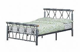 Melrose Metal Bed (Silver) - Ambers International