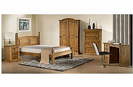 Corona Bedroom Furniture (Waxed Pine) - Birlea Furniture