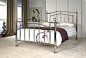 Callisto Bed Frame (Chrome) - Limelight Beds
