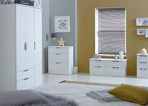 Camden High Gloss Finish Bedroom Furniture Range (More Colours available)