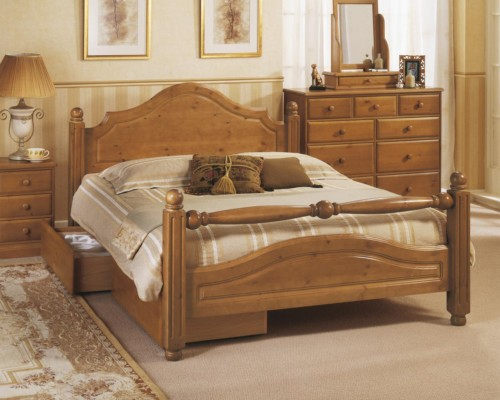 Carolina Pine Bed Frame with  Fashion Rail - Airsprung Beds