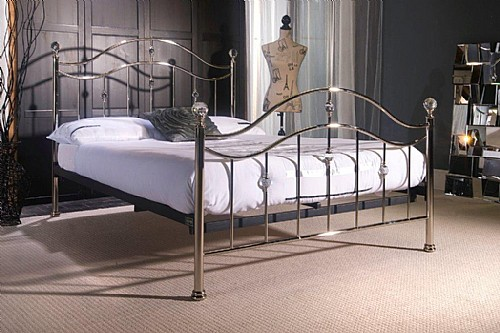 Cygnus Bed Frame (Chrome with Crystal) - Limelight Beds