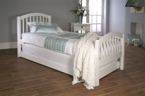 Despina Euro Single Bed & Optional Guest Bed (White) - Limelight