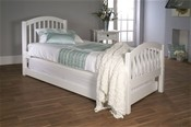 Despina Euro Single Bed & Optional Guest Bed (White) - LLB