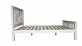 Dublin Wooden Bed Frame (White) - Ambers International