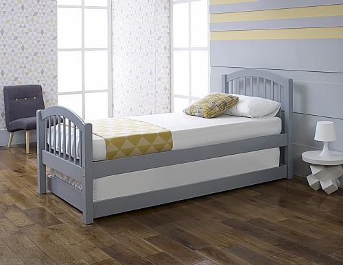 Despina Euro Single Bed & Optional Guest Bed (Grey) - Limelight