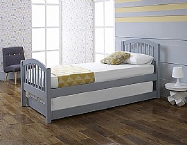 Despina Euro Single Bed & Optional Guest Bed (Grey) - LLB