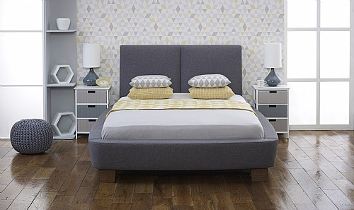 Dione Fabric Bed (Slate) - Limelight Beds