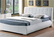 Dorado Bed Frame (White Faux Leather) - Limelight Beds
