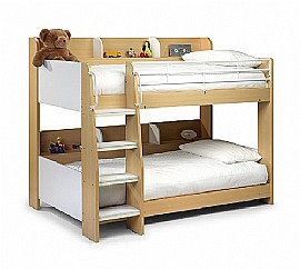 Domino Bunk Bed (2 colours available) - Julian Bowen