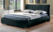 Dorado Black Bed Frame (Faux Leather)  - Limelight Beds