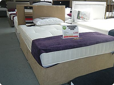 SPECIAL OFFER - Edinburgh Ortho Mattress 2 Drawer Fabric Base and Matching Headboard (Double sizes only)